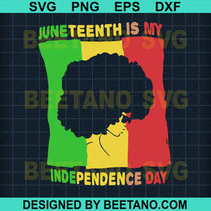 Juneteenth Is My Independence Day Afro Girl Svg Files, Independence Day Svg