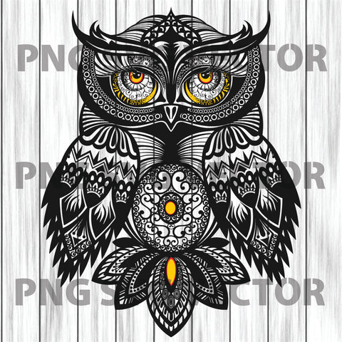 Owl svg, mandala owl svg, mandala own clipart, mandala own cutting file, own clipart, own file for cricut