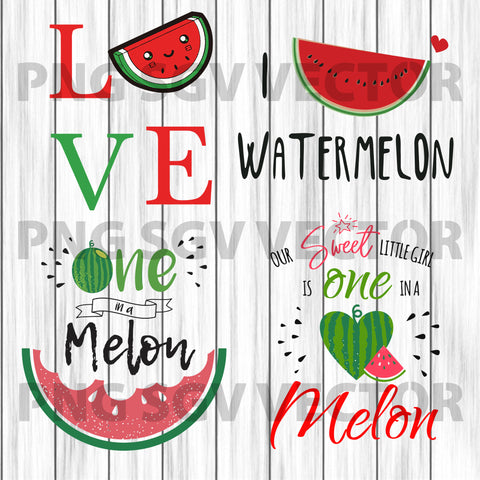 Love one melon svg, summer svg, love one melon clipart, melon quotes svg, summer quotes clipart, love one melon cutting file