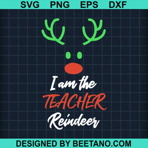 Im The Teacher Christmas Reindeer Family