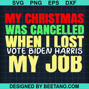 My Christmas Was Cancelled When I Lost Vote Biden Harris My Job