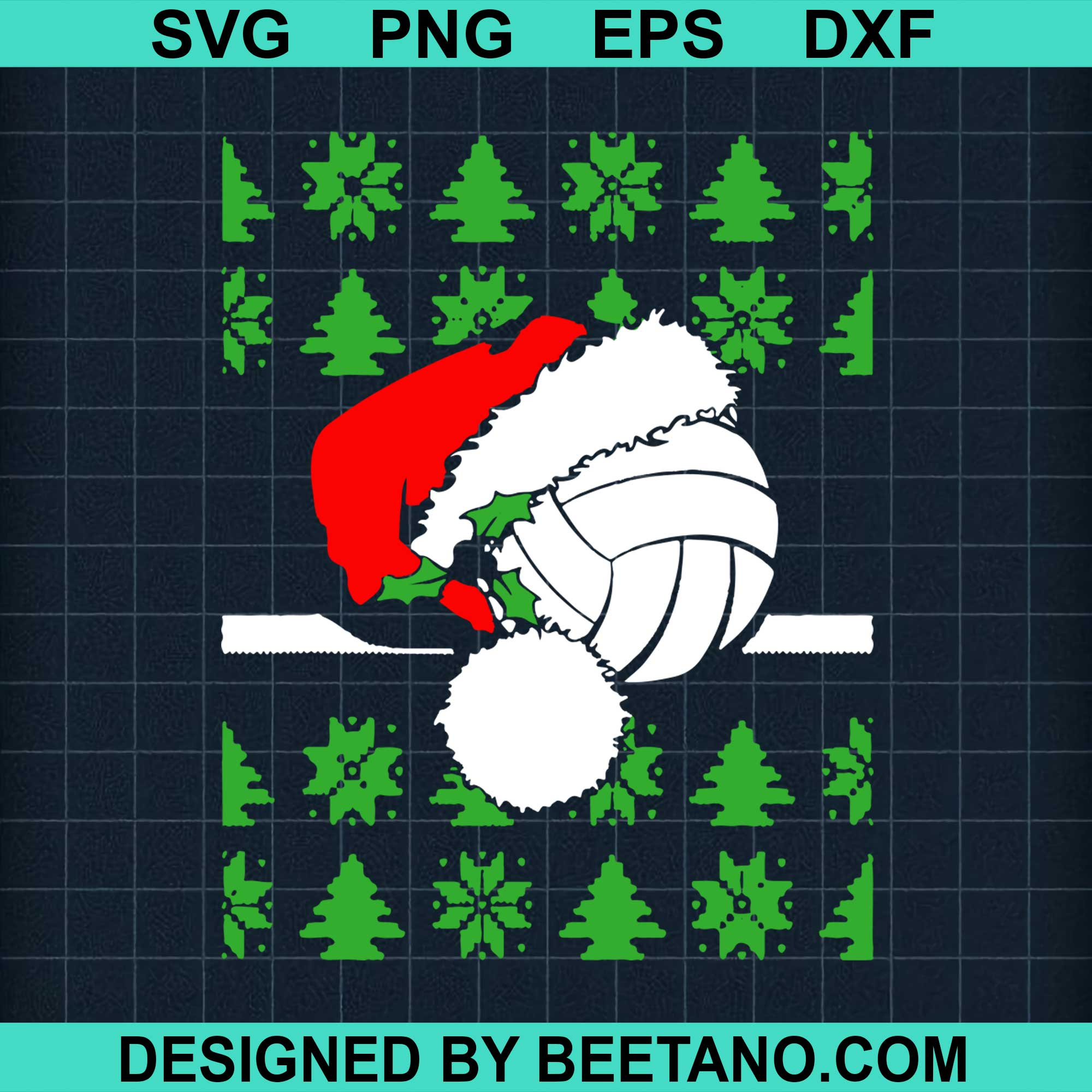 Santa Claus Hat Volleyball Christmas