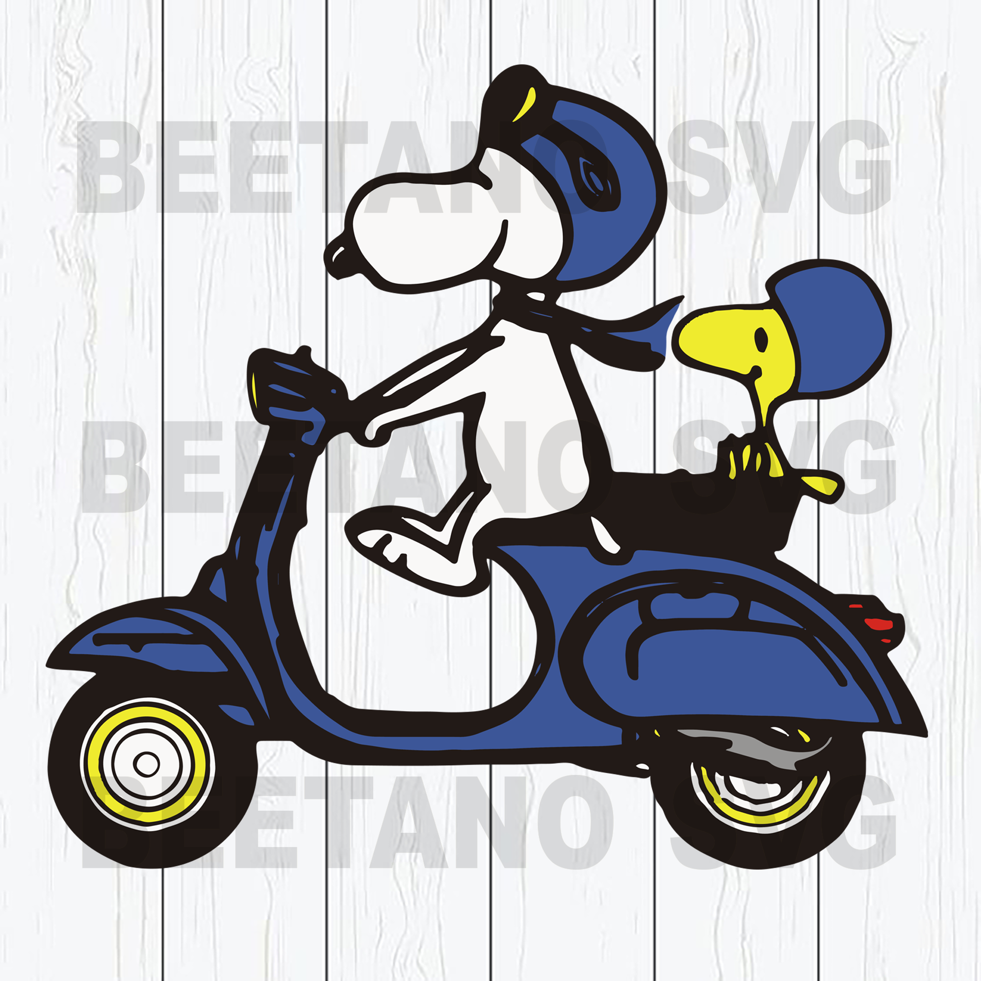 Snoopy Svg, Snoopy Driving Motobike Svg, Funny Snoopy Cutting Files For Cricut, SVG, DXF, EPS, PNG Instant Download