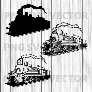 Train Svg Bundle, Train Vector, Train Clipart, Train Cutting Files For Cricut, SVG, DXF, EPS, PNG Instant Download