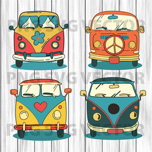 Vintage Van Svg Bundle, Vintage Van Vector, Vintage Van Clipart, Vintage Car Svg Files, Vintage Van Cutting Files For Cricut, SVG, DXF, EPS, PNG Instant Download