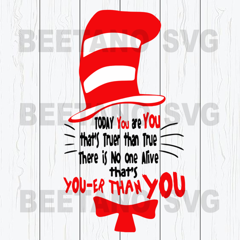 Red Hat Cat Svg, Cat in the hat Svg, Cat In The Hat Cutting Files For Cricut, SVG, DXF, EPS, PNG Instant Download