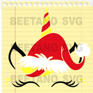 Unicorn Santa Hat Svg, Funny Unicorn Svg Files For Cricut, SVG, DXF, EPS, PNG Instant Download