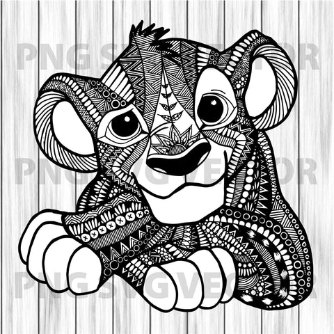 Mandala lion king svg