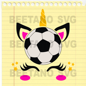 Unicorn Svg, Unicorn Sport soccer Unicorn Cutting Files For Cricut, SVG, DXF, EPS, PNG Instant Download