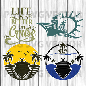 Life is better on cruise svg, cruise svg, cruise clipart, beach svg, beach clipart, life is better on cruise cutting file