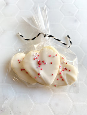 Mini Circus Heart Cookies