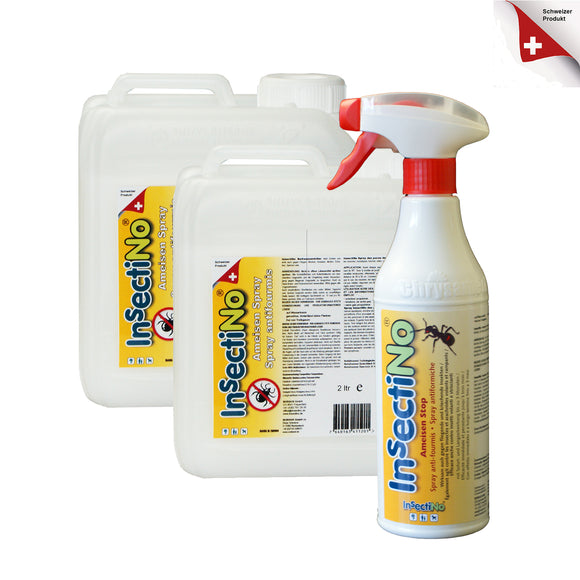 InsectiNo AmeisenStop/ 1 x 500 ml Handsprüher/2 x 2 ltr Kanister