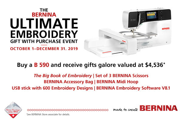 Ultimate Embroidery Gift With Purchase Bernina Of Naperville