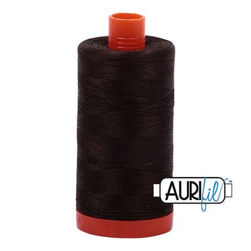 Aurifil Thread 50wt Dark Bark