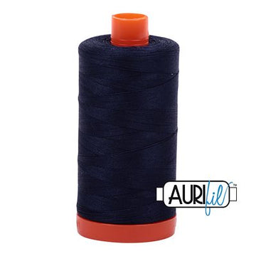Aurifil Thread 50wt Very Dark Navy