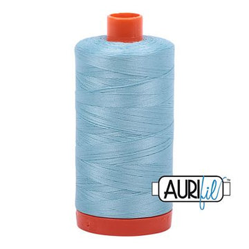 Aurifil Thread 50wt Light Gray Turquoise