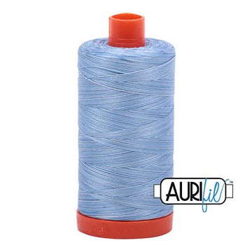 Aurifil Variegated Thread 50wt Stonewash Denim
