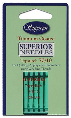 Superior Titanium Coated Topstitch Needles