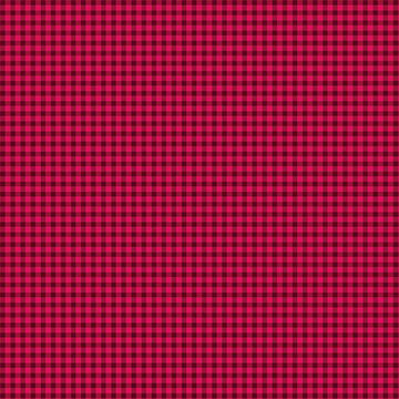 Warp and Weft Holiday- Mini Gingham Cranberry