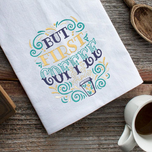 But First, Coffee Embroidery Design CD