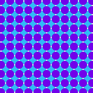 Circle Grid Grape/Blue