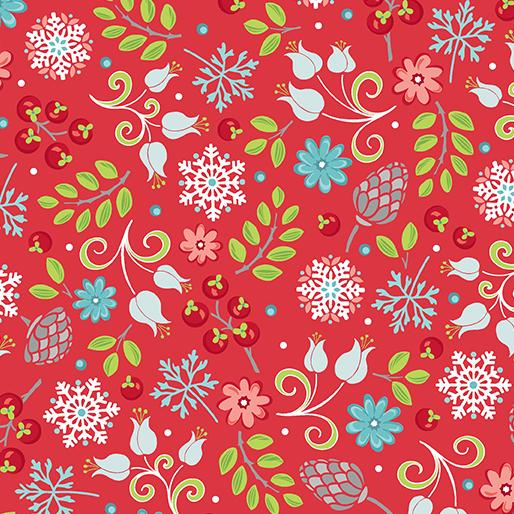 Amanda Murphy: First Frost Little Floral Red