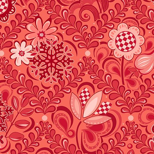 Amanda Murphy: First Frost Damask Red