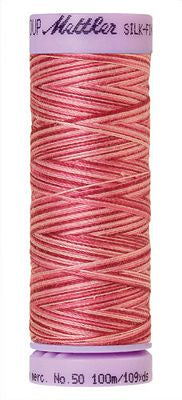 Mettler Silk Finish Cotton Multi 109 YDS - CRANBERRY CRUSH