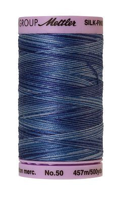 Mettler Silk Finish Cotton Multi 500 YDS - EVENING BLUE