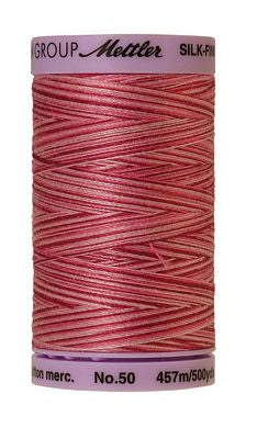 Mettler Silk Finish Cotton Multi 500 YDS - CRANBERRY CRUSH