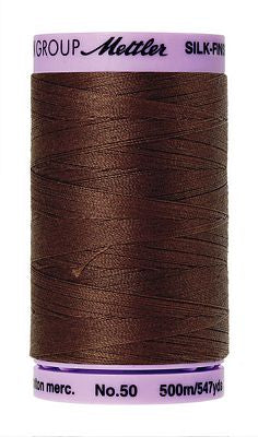 Mettler Silk Finish Cotton 50wt 500m - FRIAR BROWN