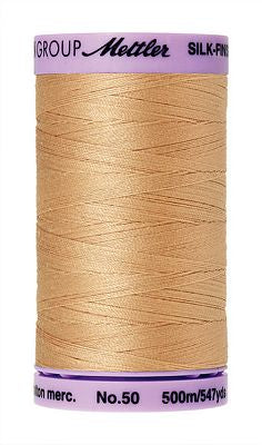 Mettler Silk Finish Cotton 50wt 500m - OAT STRAW