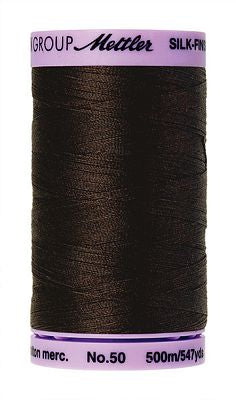 Mettler Silk Finish Cotton 50wt 500m - VERY DARK BROWN
