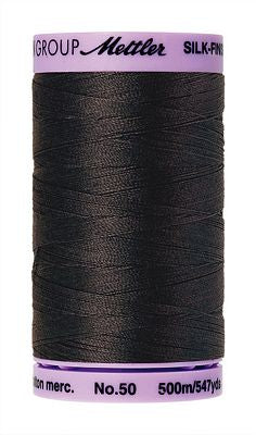 Mettler Silk Finish Cotton 50wt 500m - CHARCOAL