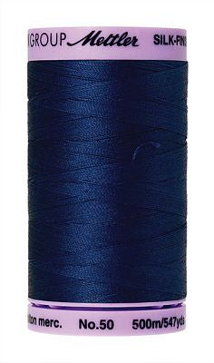 Mettler Silk Finish Cotton 50wt 500m - IMPERIAL BLUE