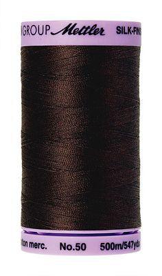 Mettler Silk Finish Cotton 50wt 500m - BLACK PEPPERCORN