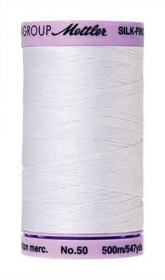 Mettler Silk Finish Cotton 50wt 500m - WHITE