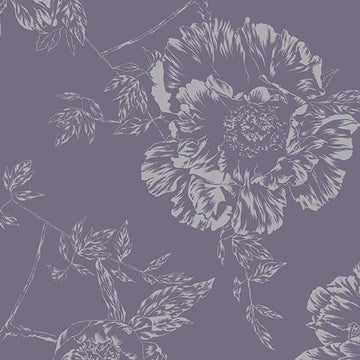 Shadow Flowers Backing WIDE: Pewter Gray