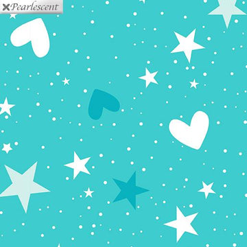 Magical Stars & Hearts Medium Aqua