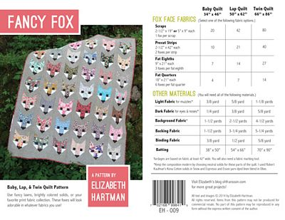 FANCY FOX - Elizabeth Hartman