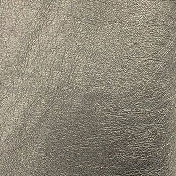 Faux Leather Fabric 54 x 19- Metallic Grey