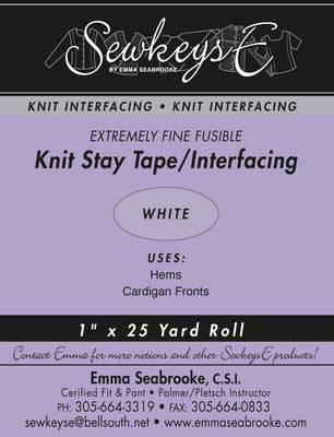 FUSIBLE KNIT STAY TAPE 1IN White