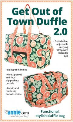 Get Out of Town Duffle 2.0 by Patterns by Annie