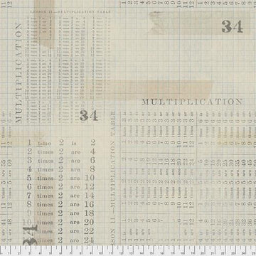 Eclectic Elements: Multiplication Table Aqua