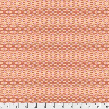 Tula Pink True Colors: Hexy in Peach Blossom