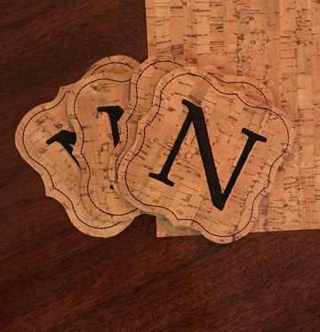 Sunday Morning Sewcial: Embroidered Cork Coasters