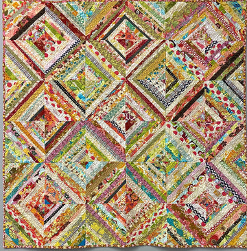 Learn to Quilt: Foundation pieced String Quilt