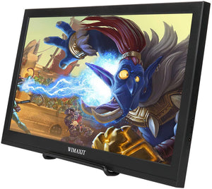 WIMAXIT M1560S Portable HDR Monitor, 16:9 Display Monitor for Xbox/Raspberry PI /PS3/PS4/Switch/PC