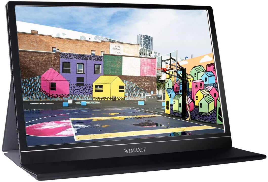 WIMAXIT M1563C Portable Monitor 15.6inch Full HD 1080P USB C HDMI Monitor for Laptop/PC/Mac