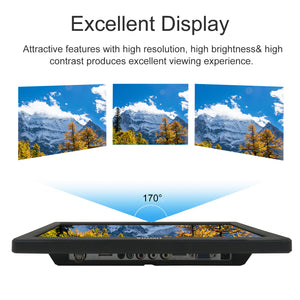 WIMAXIT M1220 12 Inch IPS FHD HDMI Monitor HDMI VGA BNC AV for PC Computer Camera DVD Security CCTV DVR Home Office Surveillance - Wimaxit Official Store